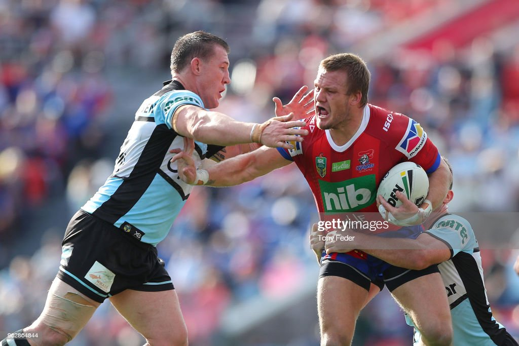 NRL Rd 12 - Knights v Sharks