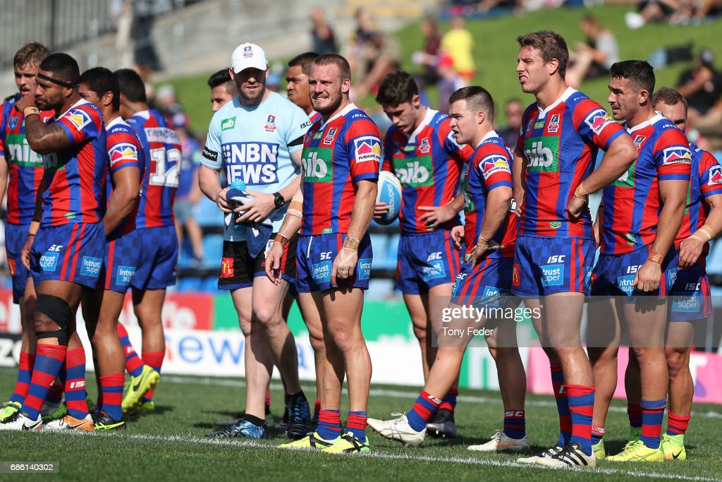 Nathan Ross of the Knights plays in the reserves during the round 11 NRL RESERVES match between the Newcastle Knights and the Penrith Panthers at McDonald Jones Stadium on May 21, 2017 in Newcastle, Australia.