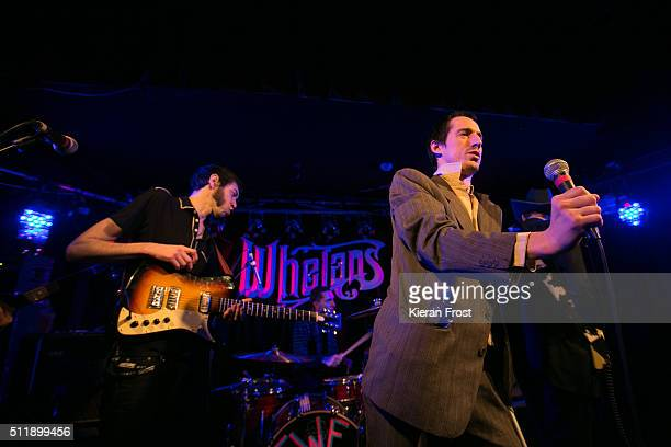 Nathan Saoudi and Lias Saoudi of Fat White Family performs at Whelan's on February 23, 2016 in Dublin, Ireland.