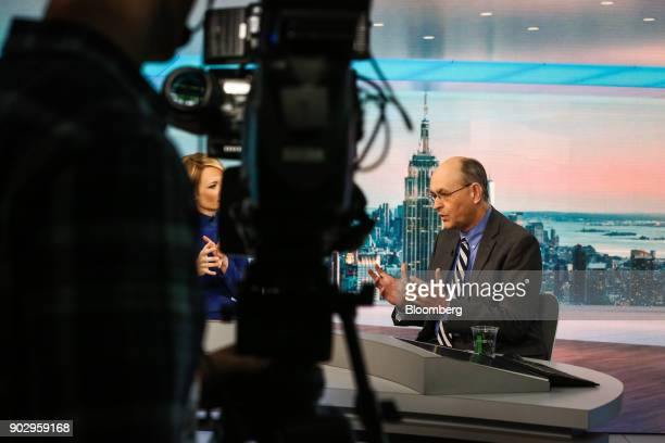 Nathan Sheets chief economist at PGIM Inc speaks during a Bloomberg Television interview in New York US on Tuesday Jan 9 2018 Sheets discussed the...