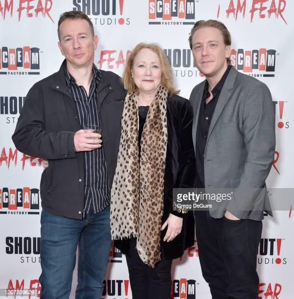 """Nathan Shulman Cecie Shulman and Kevin Shulman attend the Los Angeles Premiere of Roxwell Films """"I Am Fear"""" at Laemmle Monica Film Center on February..."""