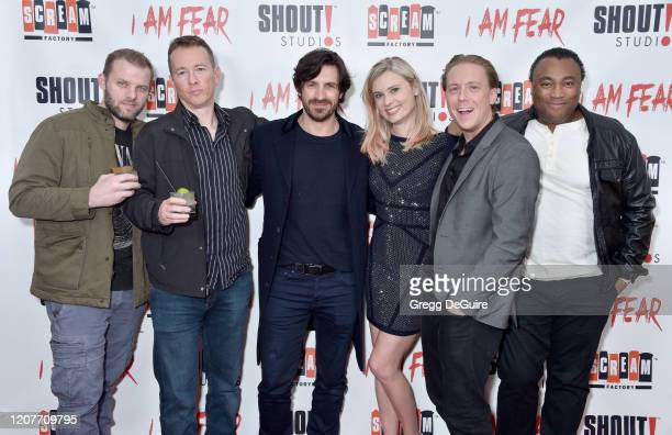 """Nathan Shulman Eoin Macken Kristina Klebe Kevin Shulman and Ivory Broome attend the Los Angeles Premiere of Roxwell Films """"I Am Fear"""" at Laemmle..."""