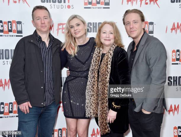 """Nathan Shulman Kristina Klebe Cecie Shulman and Kevin Shulman attend the Los Angeles Premiere of Roxwell Films """"I Am Fear"""" at Laemmle Monica Film..."""