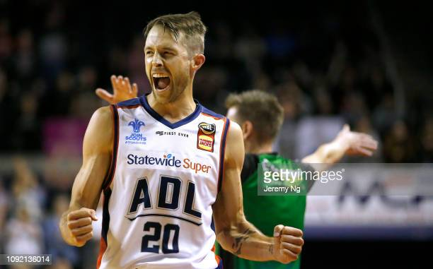 Nathan Sobey of the 36ers reacts during the round 13 NBL match between the Illawarra Hawks and the Adelaide 36ers at Wollongong Entertainment Centre...