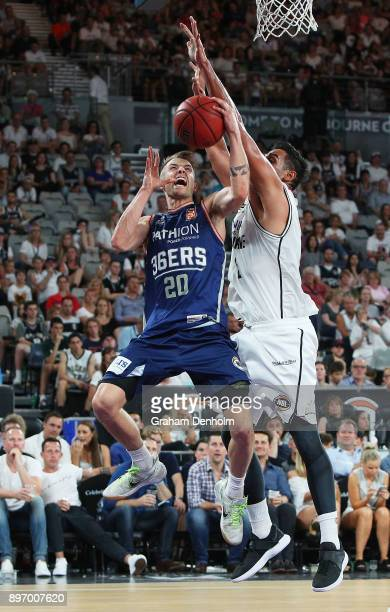 Nathan Sobey of the Adelaide 36ers drives at the basket during the round 11 NBL match between Melbourne United and the Adelaide 36ers at Hisense...