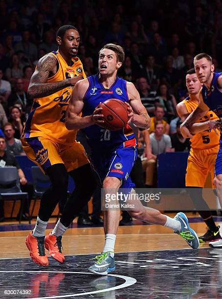 Nathan Sobey of the Adelaide 36ers drives to the basket during the round 11 NBL match between Adelaide 36ers and the Sydney Kings on December 16 2016...