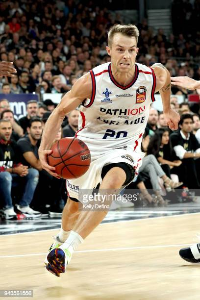 Nathan Sobey of the Adelaide 36ers in action during game five of the NBL Grand Final series between Melbourne United and the Adelaide 36ers at...