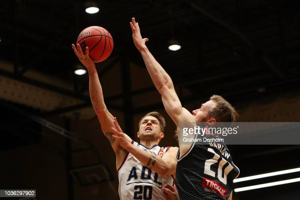 Nathan Sobey of the Adelaide 36ers in action during the NBL Blitz preseason match between Melbourne United and the Adelaide 36ers at Bendigo Stadium...