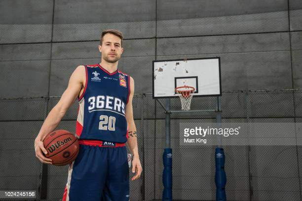 Nathan Sobey of the Adelaide 36ers poses during the NBL First Ever Apparel Uniform Launch athe the Ultimo Community Centre on August 27 2018 in...