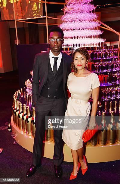 Nathan Stewart Jarrett and Antonia Thomas attend the Moet British Independent Film Awards 2013 at Old Billingsgate Market on December 8 2013 in...