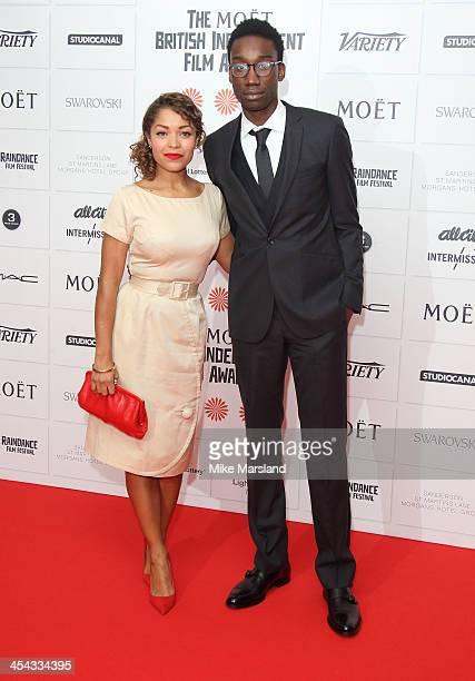 Nathan Stewart Jarrett and Antonia Thomas attend the Moet British Independent Film Awards at Old Billingsgate Market on December 8 2013 in London...