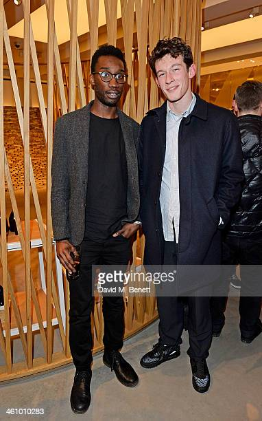 Nathan Stewart Jarrett and Callum Turner attend a cocktail party hosted by Mulberry in its flagship store on New Bond Street in celebration of London...