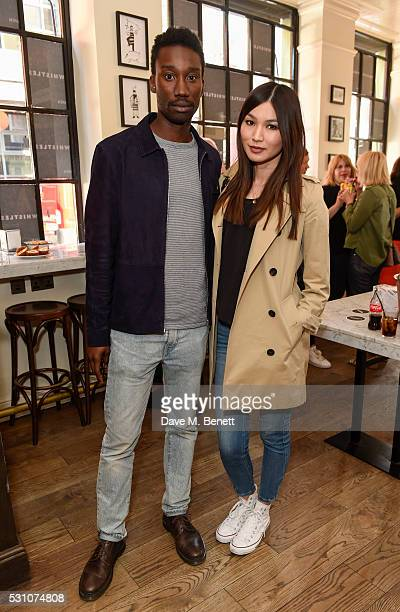 Nathan Stewart Jarrett and Gemma Chan attend the Whistles first dedicated menswear store launch party>> on May 12 2016 in London England
