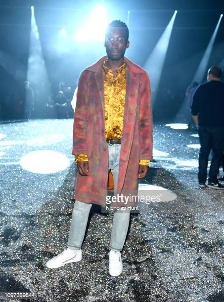 Nathan Stewart Jarrett attends the Sies Marjan FW'19 Runway Show at SIR Stage on February 10 2019 in New York City