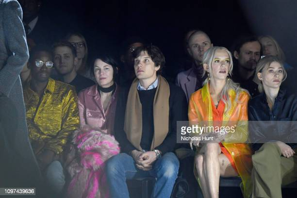 Nathan Stewart Jarrett Elizabeth Peyton Theo Wenner Bria Vinaite and Sofia Hublitz attend the Sies Marjan FW'19 Runway Show at SIR Stage on February...