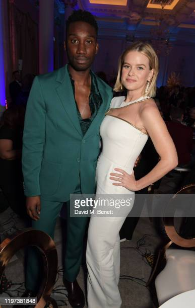 Nathan StewartJarrett and Alice Eve attend the Newport Beach Film Festival 6th Annual UK Honours at The Langham Hotel on January 29 2020 in London...