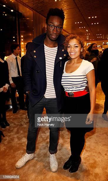 Nathan StewartJarrett and Antonia Thomas attend the launch of fashion brand Miu Miu's new flagship London store at Miu Miu Store Bond Street on...