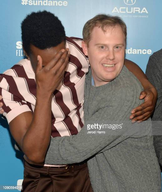 Nathan StewartJarrett and Lucas Heyne attend the 'Mope' Premiere during the 2019 Sundance FIlm Festival at Egyptian Theatre on January 27 2019 in...