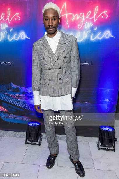 Nathan StewartJarrett attends revival of Angels in America play after party at Espace