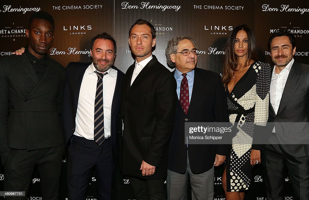 Nathan Stewart-Jarrett, Richard Shepard, Jude Law, Stephen Gilula, Madalina Diana Ghenea and Demian Bichir attend The Cinema Society & Links of London screening of Fox Searchlight Pictures' 'Dom Hemingway' at Landmark Sunshine Cinema on March 27, 2014 in New York City.