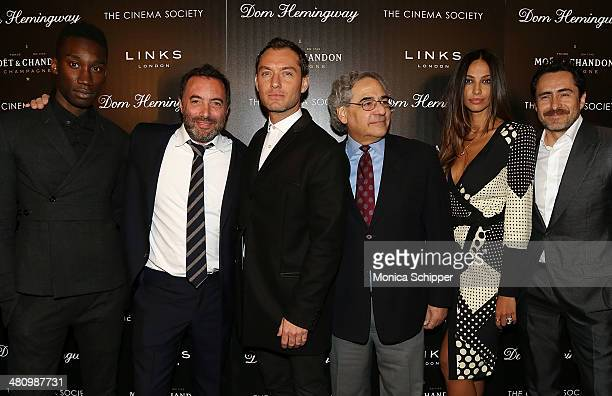 Nathan StewartJarrett Richard Shepard Jude Law Stephen Gilula Madalina Diana Ghenea and Demian Bichir attend The Cinema Society Links of London...