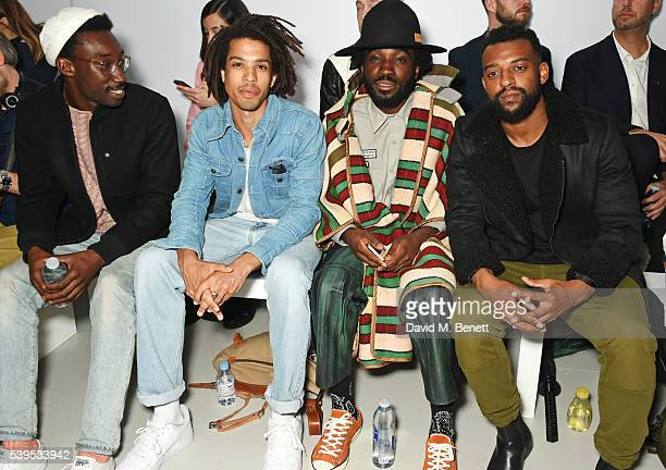 Nathan StewartJarrett Sean Frank Charley Van Purpz and Oritse Williams attend the Christopher Raeburn show during The London Collections Men SS17 at...