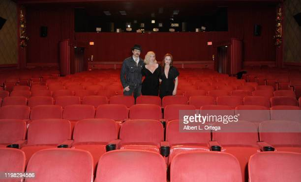 Nathan Sutton Bethany Brooke Anderson and Augie Duke attend the Premiere Of Burning Kentucky held at Fine Arts Theatre on February 2 2020 in Beverly...