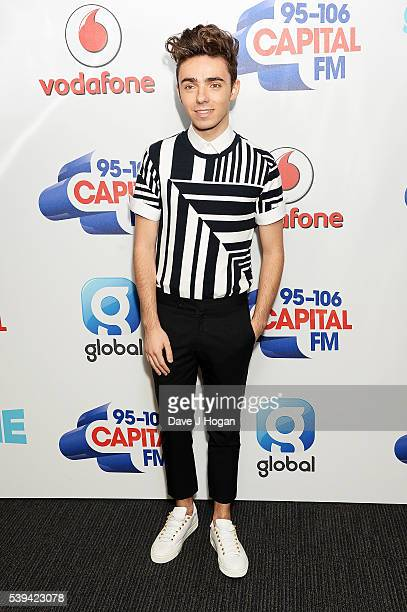 Nathan Sykes arrives for Capital's Summertime Ball at Wembley Stadium on June 11 2016 in London England