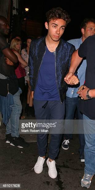 Nathan Sykes at Mahiki night club on June 21 2014 in London England