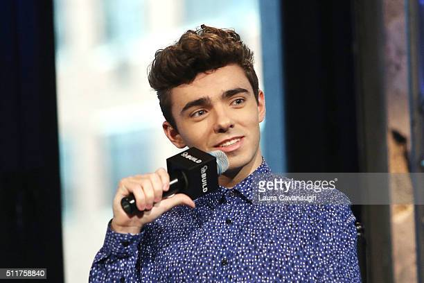 Nathan Sykes attends AOL Build Speaker Series Nathan Sykes at AOL Studios In New York on February 22 2016 in New York City