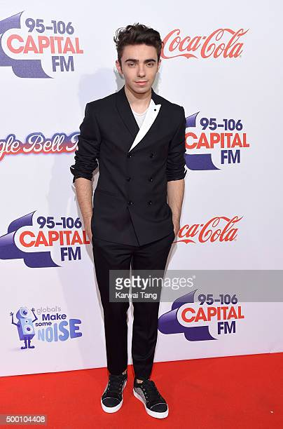 Nathan Sykes attends day one of the Capital FM Jingle Bell Ball at The O2 Arena on December 5 2015 in London England