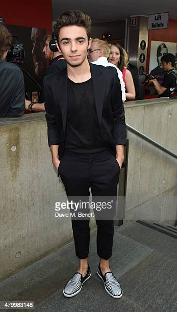 Nathan Sykes attends the Arqiva Commercial Radio Awards at The Roundhouse on July 8 2015 in London England