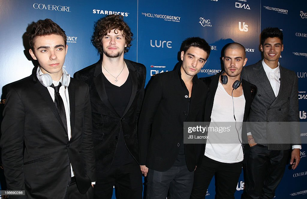 Nathan Sykes, Jay McGuiness, Tom Parker, Max George and Siva Kaneswaran of The Wanted attend the US Weekly Magazine's Music Party With Performance By The Wanted at Lure on November 18, 2012 in Hollywood, California.