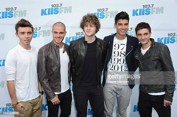 Nathan Sykes Max George Jay McGuiness Siva Kaneswaran and Tom Parker of The Wanted arrive at 1027 KIIS FM's Wango Tango at The Home Depot Center on...