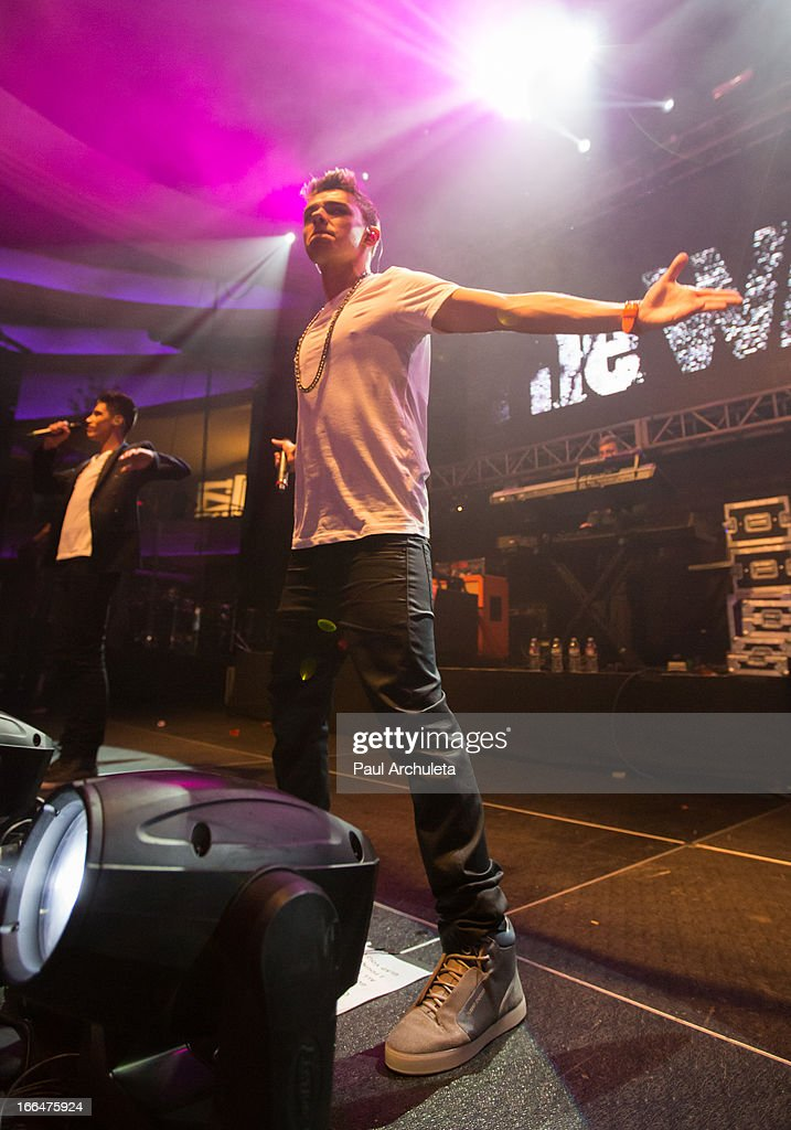 Nathan Sykes of the boy band The Wanted perform live at the 97.1 Amplify 2013 concert at The Hollywood Palladium on April 12, 2013 in Los Angeles, California.