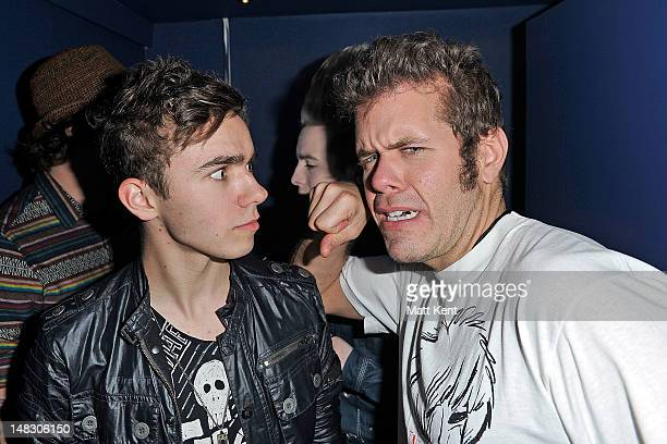 Nathan Sykes of the Wanted and Perez Hilton attend Perez Hilton's One Night In London at the Electric Brixton in London United Kingdom