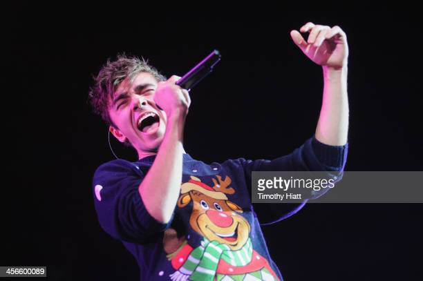 Nathan Sykes of The Wanted performs during the B96 Pepsi Jingle Bash at Allstate Arena on December 14 2013 in Chicago Illinois