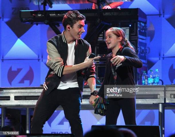 Nathan Sykes of The Wanted performs onstage during Z100's Jingle Ball 2012 presented by Aeropostale at Madison Square Garden on December 7 2012 in...