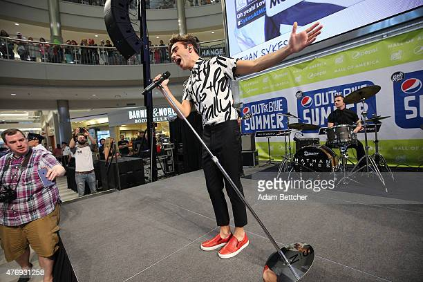 Nathan Sykes performs at Mall of America on June 12 2015 in Bloomington Minnesota