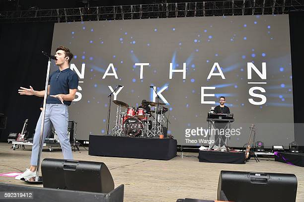 Nathan Sykes performs during the 2016 Billboard Hot 100 Festival Day 1 at Nikon at Jones Beach Theater on August 20 2016 in Wantagh New York