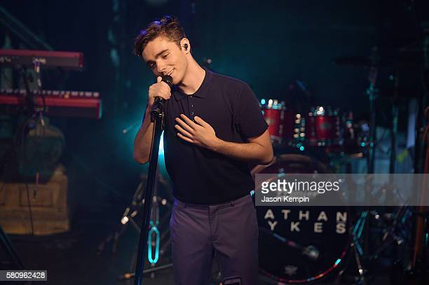 Nathan Sykes performs hits off his upcoming solo album out in November at The Box on July 25 2016 in New York City