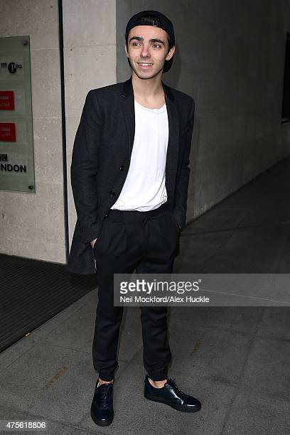 Nathan Sykes seen at BBC Radio One on June 2 2015 in London England