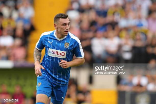 Nathan Thomas of Notts County during the preseason match between Notts County and Leicester City at Meadow Lane on July 21 2018 in Nottingham England