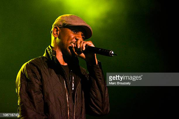 Nathan Thompson of Giggs performs on stage during the Shockwaves NME Show at Heaven on February 1, 2011 in London, England.