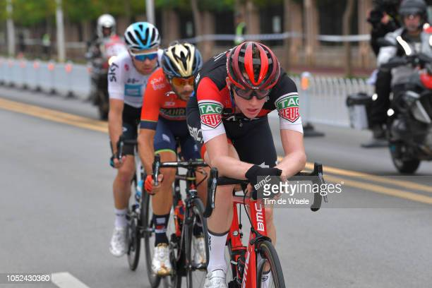 Nathan Van Hooydonck of Belgium and Bmc Racing Team / Owain Doull of Great Britain and Team Sky / Manuele Boaro of Italy and Team BahrainMerida /...