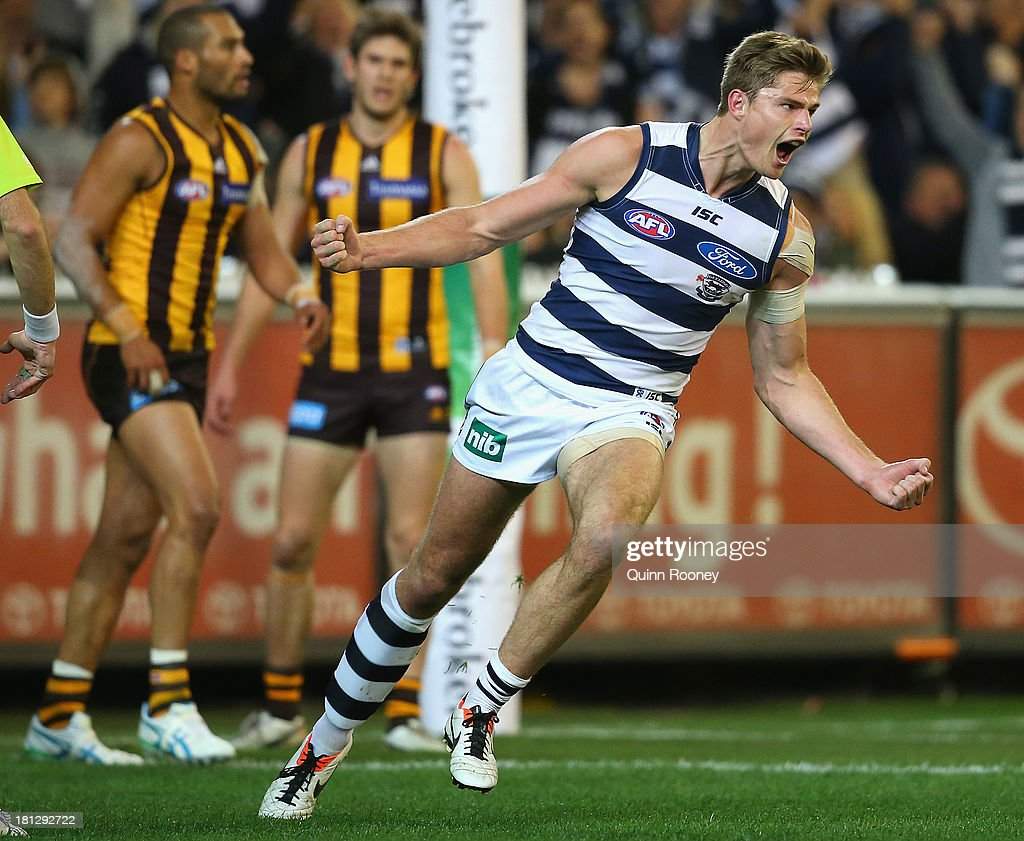 AFL 1st Preliminary Final - Hawthorn v Geelong : News Photo