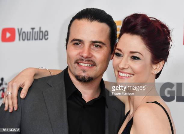 Nathan West and Chyler Leigh at the 2017 GLSEN Respect Awards at the Beverly Wilshire Four Seasons Hotel on October 20 2017 in Beverly Hills...