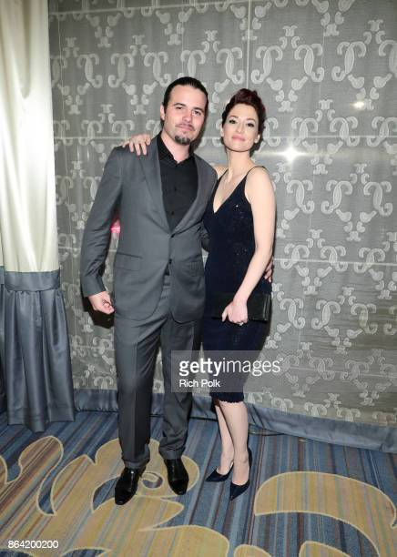 Nathan West and Chyler Leigh at the 2017 GLSEN Respect Awards at the Beverly Wilshire Hotel on October 20 2017 in Los Angeles California