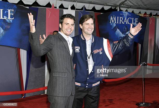 Nathan West and Rob McClanahan during 'Miracle' Los Angeles Premiere at The El Capitan Theatre in Hollywood California United States