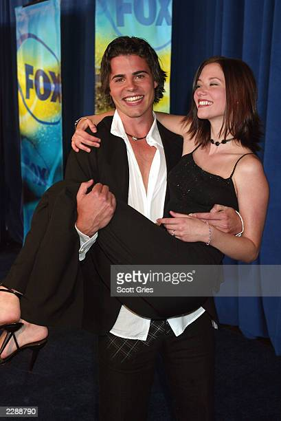 Nathan West of Septuplets and Chyler Leigh of girls club at the FOX 2002 Upfronts May 15 2002 New York NY Photo by Scott Gries/ImageDirect